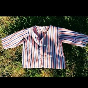 Vintage Red, Navy, White Striped Blazer